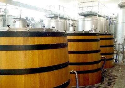 Custom oak vats and cat walks for winery