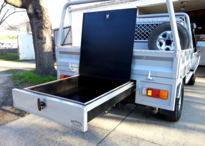Custom pull out drawer and ute tray