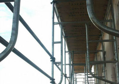 Close up of Hi-STAGE Scaffolding