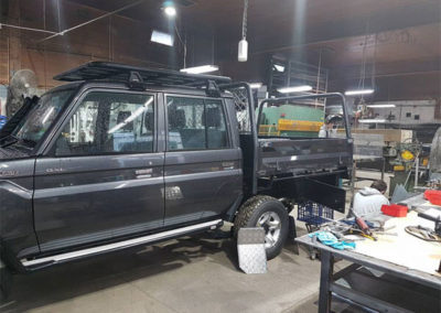 Building custom tray for twin cab cruiser