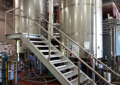 Bespoke handrails and stairs for winery